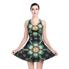 Kaleidoscope With Bits Of Colorful Translucent Glass In A Cylinder Filled With Mirrors Reversible Skater Dress