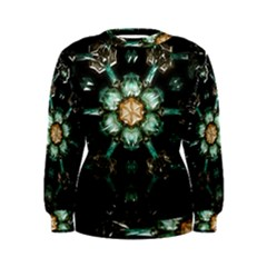 Kaleidoscope With Bits Of Colorful Translucent Glass In A Cylinder Filled With Mirrors Women s Sweatshirt