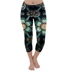 Kaleidoscope With Bits Of Colorful Translucent Glass In A Cylinder Filled With Mirrors Capri Winter Leggings