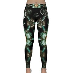 Kaleidoscope With Bits Of Colorful Translucent Glass In A Cylinder Filled With Mirrors Classic Yoga Leggings