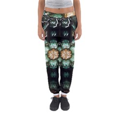 Kaleidoscope With Bits Of Colorful Translucent Glass In A Cylinder Filled With Mirrors Women s Jogger Sweatpants