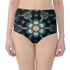 Kaleidoscope With Bits Of Colorful Translucent Glass In A Cylinder Filled With Mirrors High Waist Bikini Bottoms