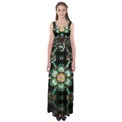 Kaleidoscope With Bits Of Colorful Translucent Glass In A Cylinder Filled With Mirrors Empire Waist Maxi Dress