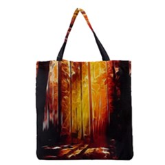 Artistic Effect Fractal Forest Background Grocery Tote Bag