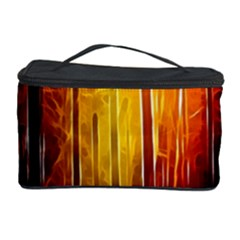 Artistic Effect Fractal Forest Background Cosmetic Storage Case