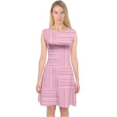 Pattern Capsleeve Midi Dress