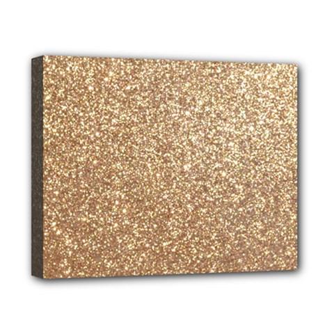 Copper Rose Gold Metallic Glitter Canvas 10  x 8