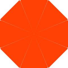 Bright Fluorescent Attack Orange Neon Hook Handle Umbrellas (Small)