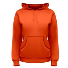 Bright Fluorescent Attack Orange Neon Women s Pullover Hoodie