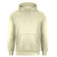 Pastel Lemon Yellow Pale Soft Meringue Yellow Men s Pullover Hoodie