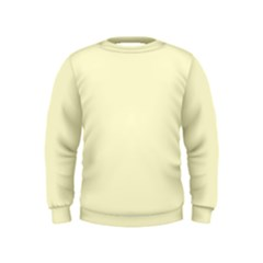 Pastel Lemon Yellow Pale Soft Meringue Yellow Kids  Sweatshirt