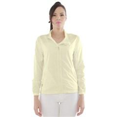 Pastel Lemon Yellow Pale Soft Meringue Yellow Wind Breaker (Women)
