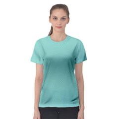 Tiffany Aqua Blue Puffy Quilted Pattern Women s Sport Mesh Tee