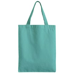 Tiffany Aqua Blue Puffy Quilted Pattern Zipper Classic Tote Bag
