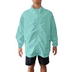 Tiffany Aqua Blue Puffy Quilted Pattern Wind Breaker (Kids)