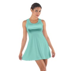 Tiffany Aqua Blue Puffy Quilted Pattern Cotton Racerback Dress