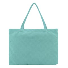 Tiffany Aqua Blue Puffy Quilted Pattern Medium Tote Bag