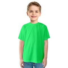 Lanai Lime Green - Acid Green Kids  Sport Mesh Tee