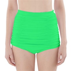 Lanai Lime Green - Acid Green High-Waisted Bikini Bottoms