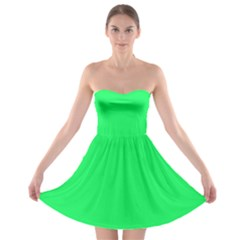 Lanai Lime Green - Acid Green Strapless Bra Top Dress