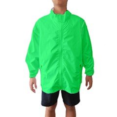 Lanai Lime Green - Acid Green Wind Breaker (Kids)