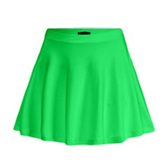 Lanai Lime Green - Acid Green Mini Flare Skirt