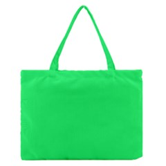 Lanai Lime Green - Acid Green Medium Zipper Tote Bag