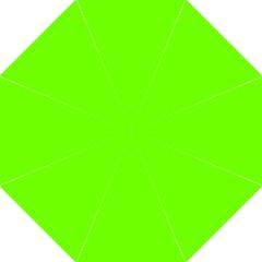 Bright Fluorescent Green Neon Hook Handle Umbrellas (Medium)