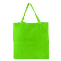 Bright Fluorescent Green Neon Grocery Tote Bag