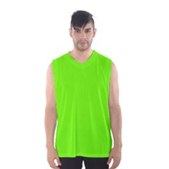 Bright Fluorescent Green Neon Men s Basketball Tank Top