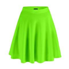 Bright Fluorescent Green Neon High Waist Skirt