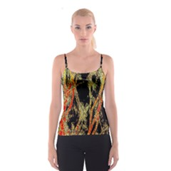 Artistic Effect Fractal Forest Background Spaghetti Strap Top