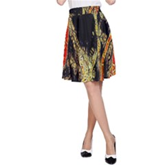 Artistic Effect Fractal Forest Background A-Line Skirt