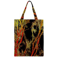 Artistic Effect Fractal Forest Background Zipper Classic Tote Bag