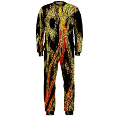 Artistic Effect Fractal Forest Background OnePiece Jumpsuit (Men)