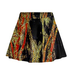 Artistic Effect Fractal Forest Background Mini Flare Skirt