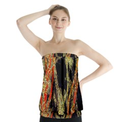 Artistic Effect Fractal Forest Background Strapless Top