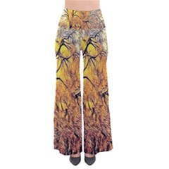 Summer Sun Set Fractal Forest Background Pants
