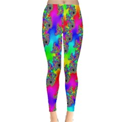 Digital Rainbow Fractal Leggings