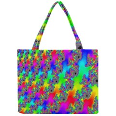 Digital Rainbow Fractal Mini Tote Bag