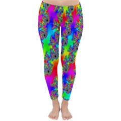 Digital Rainbow Fractal Classic Winter Leggings