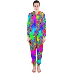 Digital Rainbow Fractal Hooded Jumpsuit (Ladies)