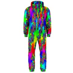Digital Rainbow Fractal Hooded Jumpsuit (Men)