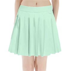 Pale Green Summermint Pastel Green Mint Pleated Mini Skirt