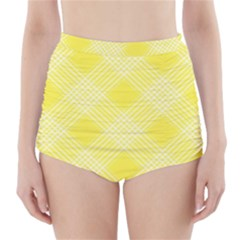 Pattern High-Waisted Bikini Bottoms