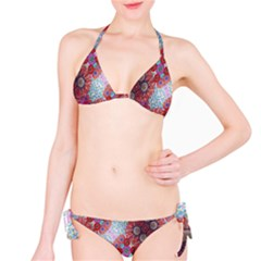 Floral Flower Wallpaper Created From Coloring Book Colorful Background Bikini Set