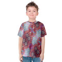 Floral Flower Wallpaper Created From Coloring Book Colorful Background Kids  Cotton Tee