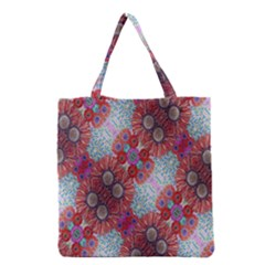Floral Flower Wallpaper Created From Coloring Book Colorful Background Grocery Tote Bag