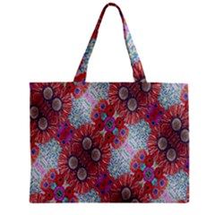 Floral Flower Wallpaper Created From Coloring Book Colorful Background Mini Tote Bag