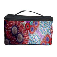 Floral Flower Wallpaper Created From Coloring Book Colorful Background Cosmetic Storage Case